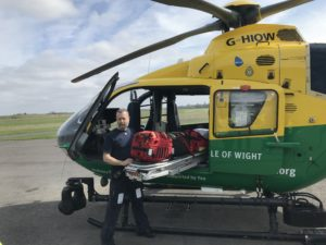 HIOWAA Helicopter in action