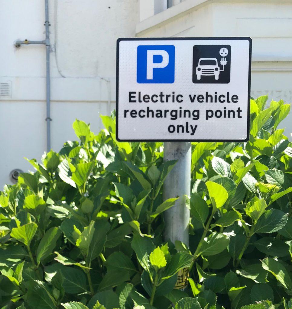 EV charging sign
